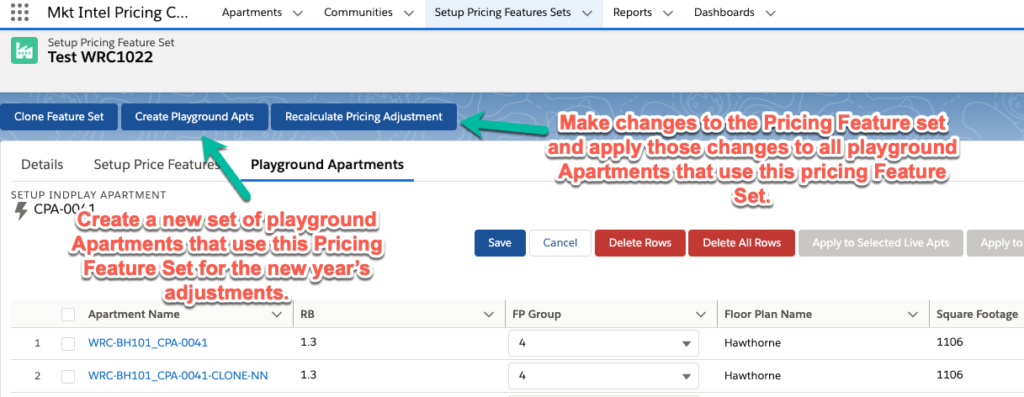 Salesforce Pricing Feature
